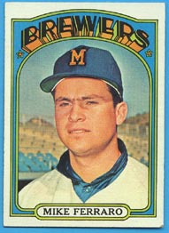 1972 Topps Baseball Cards      613     Mike Ferraro